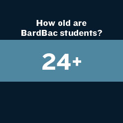 How old are BardBac Students? 24